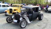 Street sound of Rat Rods,Hot Rods and street machines, accelerations and burnouts