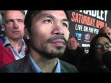 manny pacquiao vs tim bradley 3 manny answers ALL questions from NY media EsNews Boxing