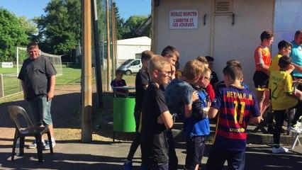 25/05/2017 : remise de la coupe (5ème) aux U12/U13 à Flers