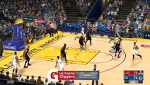 NBA 2K17 Stephen Curry,Kevin Durant & Klay Th  Highlights vs Clippers 2017.02.2