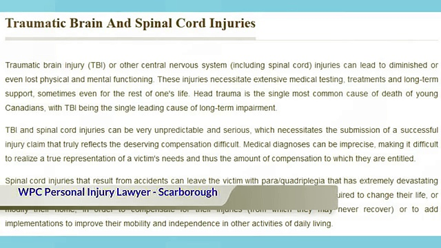 Injury Lawyer Scarborough ON – WPC Personal Injury Lawyer (800) 299-0439