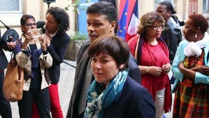 Annick Girardin au Panthéon journée nationale d'hommage aux victimes de l'esclavage colonial