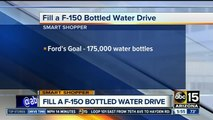 Donate cases of water bottles to help the less fortunate and get deals to two locations!