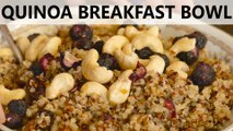 Quick & Easy Healthy Breakfast Recipe! Quinoa Breakfast Bowl, High Protein Snack