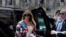 Melania Trump wears $51K Dolce & Gabbana jacket in Sicily
