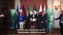 Climat: pas d'avancée au G7, Washington réfléchit encore