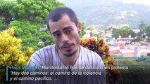 Íconos de protestas en Venezuela
