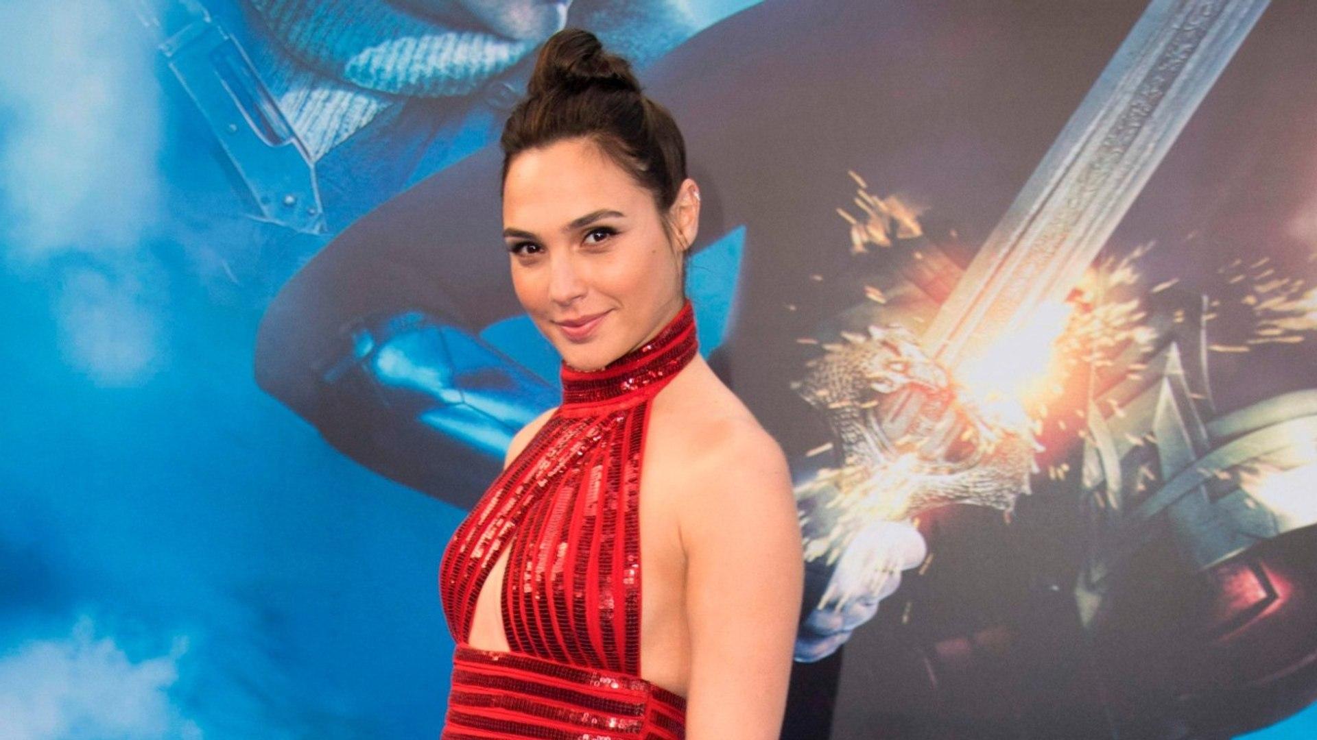 Both Wonder Women Reunite At Premiere