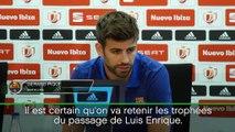 Barça - Piqué défend Luis Enrique