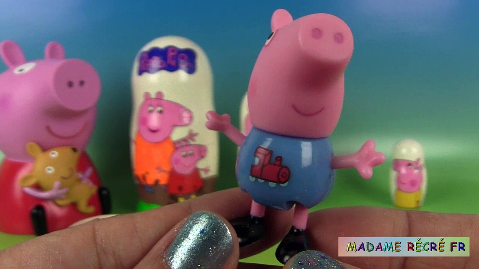 madame récré poupée russe peppa pig