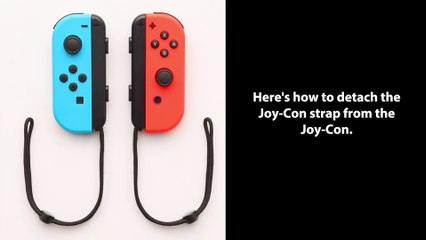 Nintendo Switch - Comment détacher les Strap des Joy-Con de