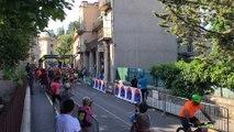 Forcalquier : un départ du Trail de Haute-Provence