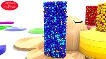 Eğitici Ahşap Oyuncak ile Geometrik Şekilleri - Renkli Toplar ile Türkçe Renkleri Öğrenin,Çizgi film izle 2017