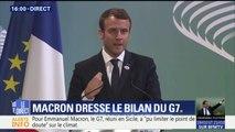 """Echec sur le climat au G7 : """"Oui, il y a des désaccords"""" reconnaît Macron"""