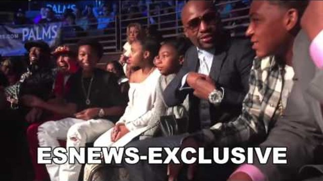 floyd mayweather rocking his million dollar watch at the fights - EsNews Boxing