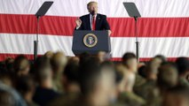 Watch: President Trump's full speech to U.S. troops in Italy