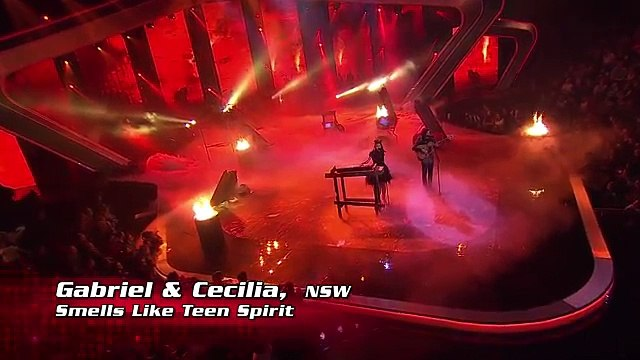 Gabriel & Cecilia sing Smells Like Teen Spirit   The Voice Australia 2014