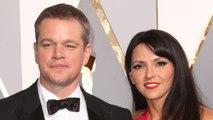 Matt Damon & Luciana Barroso Escape On A Boat