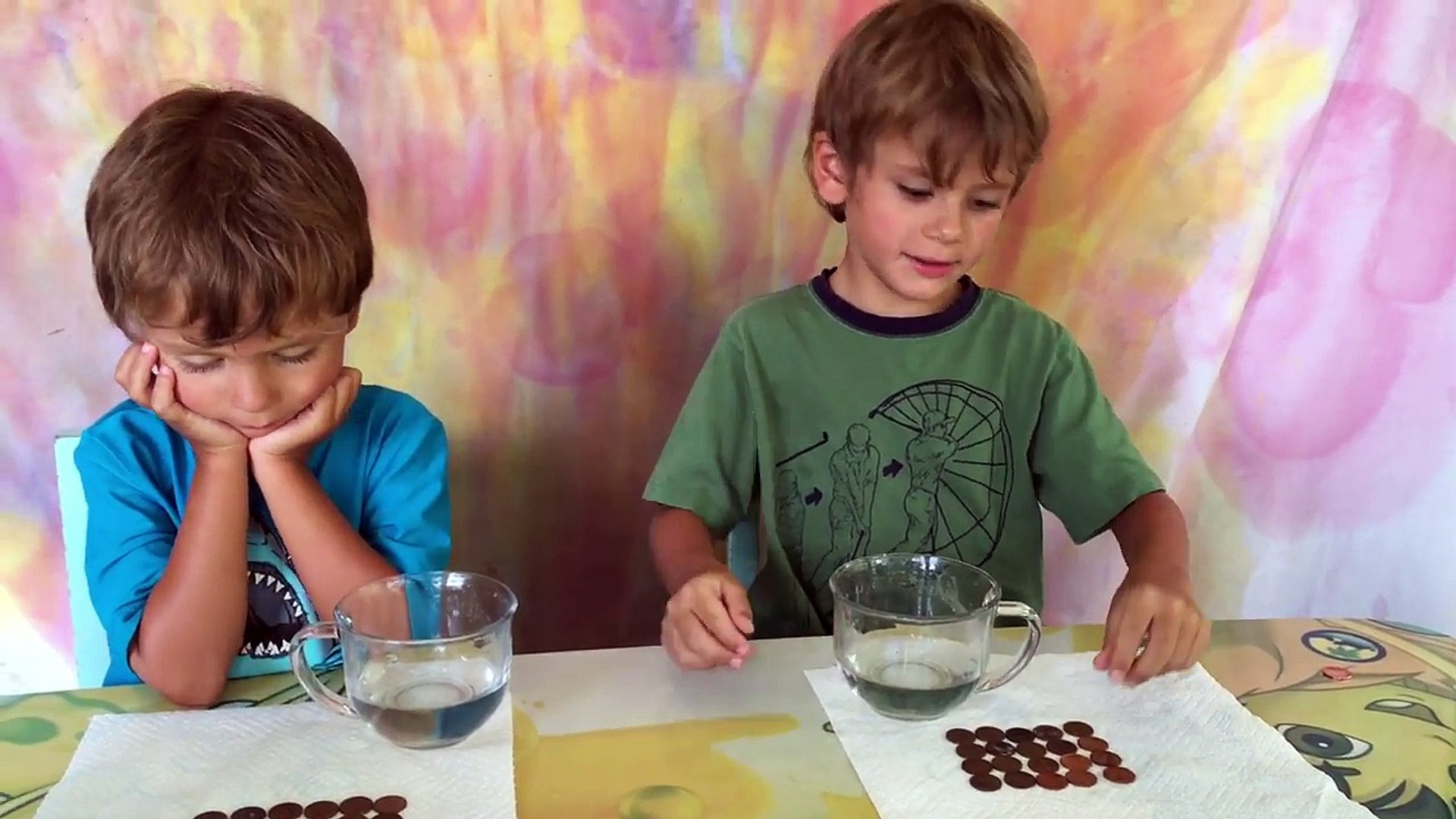 Cleaning Pennies - Simple Science For Kids - Indoor Kids Activity!