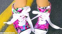 Américain poupée fille Comment pouce faire faire mini- redimensionner chaussures baskets à Il 18  