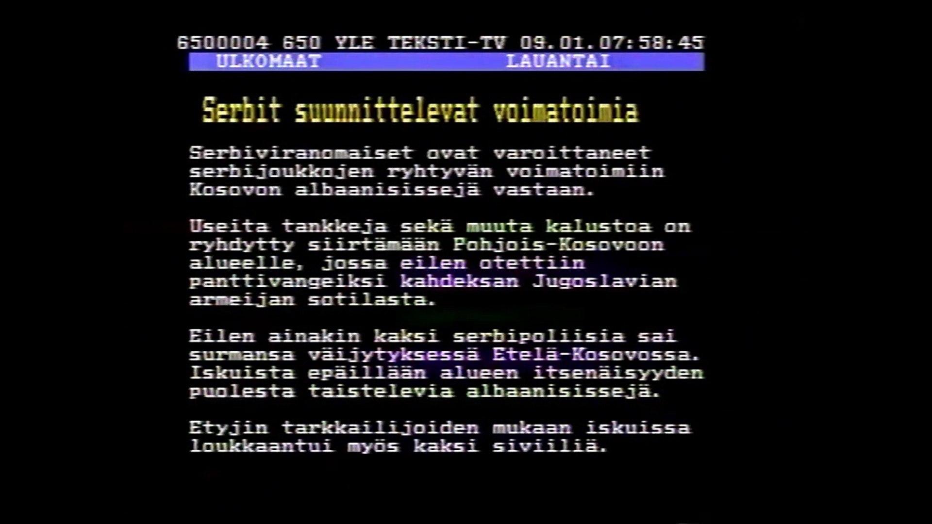 Yle Tekstitv 235
