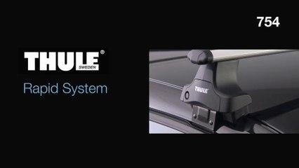 Багажник Thule на гладкую крышу - видео установки