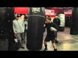 boxing star Jonathan Oquendo fights on kid chocolate vs jacobs undercard EsNews Boxing