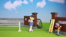 Doraemon Nobita and Shizuka (Noby and Sue) rain day stop motion anim