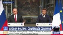 """Poutine avec Macron à Versailles: """"Ce qui est le plus important, c'est la lutte contre le terrorisme"""""""