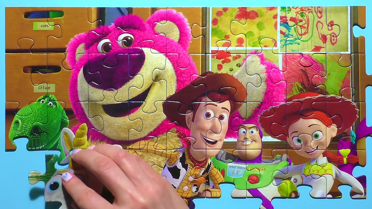 Learn Puzzle TOY STORY Potato Head, Woody, Buzz Lightyear