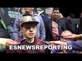 CANELO on fighting one of his fav fighters miguel cotto - EsNews Boxing
