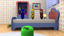 Five Little Monkeys - 3D Nursery Rhymes _ Color Crew 3-D Animation _ 3D Rhymes for Kids _ BabyFi