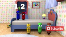 Five Little Monkeys - 3D Nursery Rhymes _ Color Crew 3-D Animation _ 3D Rhymes for Kids _ Baby