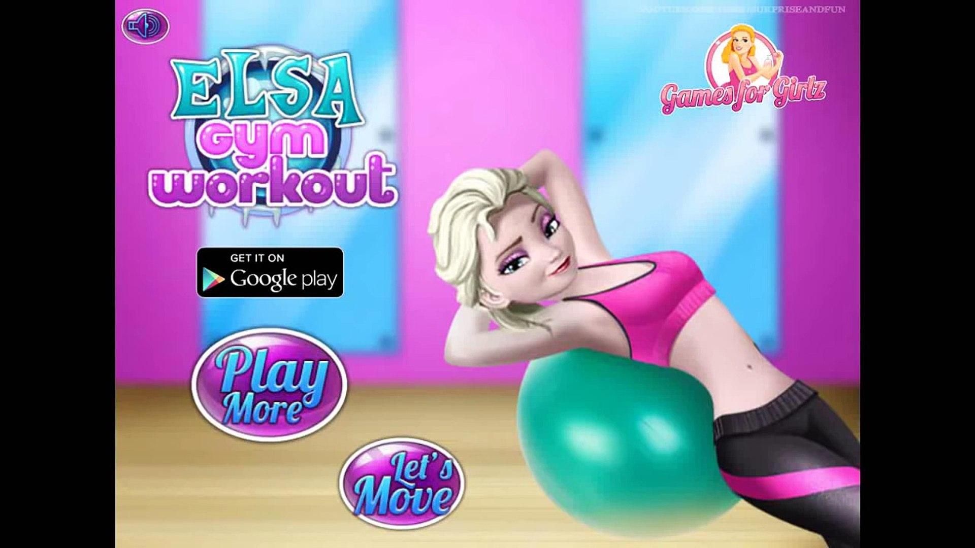 Frozen - Elsa Gym Workout - Sport Game for Kids