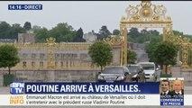 La poignée de main appuyée entre Emmanuel Macron et Vladimir Poutine à Versailles