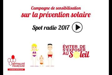 """Spot radio """"1, 2, 3 soleil"""" sur la prévention solaire"""