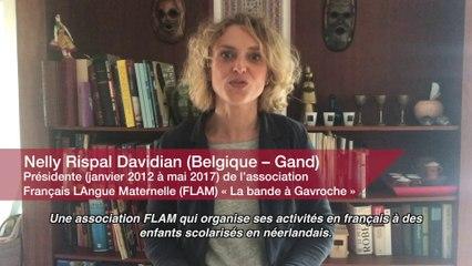 Education : Nelly Rispal Davidian. Présidente (janvier 2012 à mai 2017) de l'association Français LAngue Maternelle (FLA