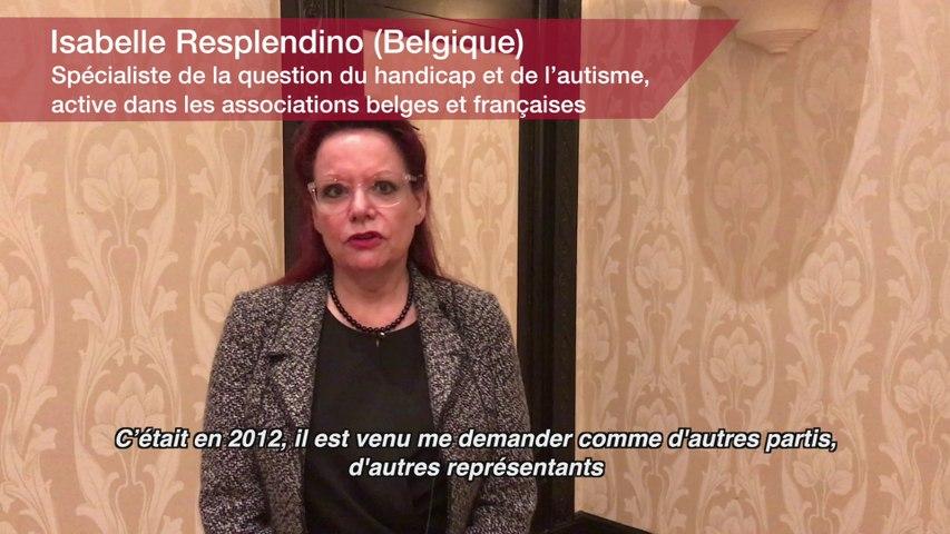Droits et libertés : Isabelle Resplendino. Spécialiste de la question du handicap et de l'autisme, active dans les associations belges et françaises (Belgique)