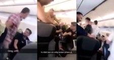Türk yolcular Amsterdam uçağında tekme tokat birbirine girdi