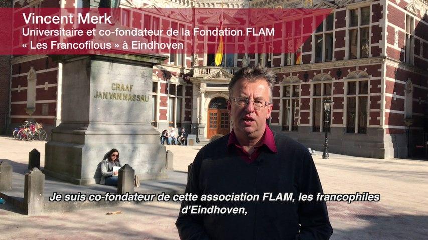 Education : Vincent Merk. Universitaire et co-fondateur de la Fondation FLAM « Les Francofilous » à Eindhoven (Pays-Bas)