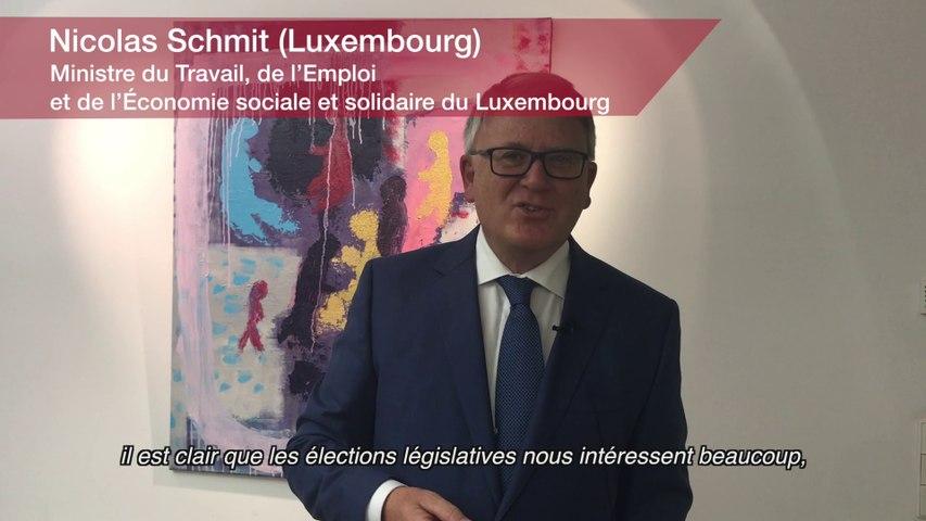 Europe : Nicolas Schmit. Ministre du Travail, de l'Emploi et de l'Économie sociale et solidaire du Luxembourg
