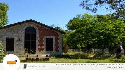 A vendre - Maison/villa - Soulac sur mer (33780) - 7 pièces - 115m²