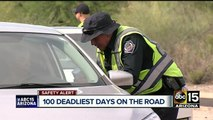 100 deadliest days on the road for teens is underway and police are working to keep kids safe