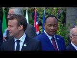 """La foto di gruppo dei Leader G7 e dei Leader dei Paesi """"Outreach"""" al Summit #G7Taormina (27.05.17)"""