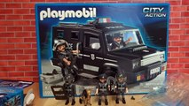 Playmobil City Action Police! SWAT, Police Station, Tical Unit, Police Car with Camera