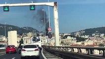 Incendie dans le quartier Cimiez à Nice