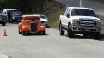 Street sound of Rat Rods,Hot Rods and street machines, accelerations and burn