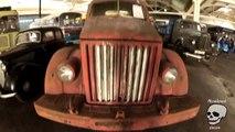 Retro fire truck. Old freight truck. Retro vehicles Mercede