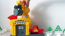 Crane and vehicles. Toys video for children. Kinder Surprise. Toy
