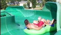 Scary water slide extreme down hill water
